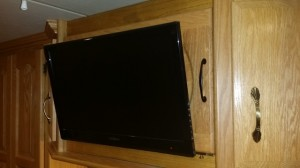New Bedroom RV Flat Screen TV
