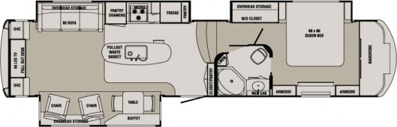 5th Wheel Front Bedroom Floorplan