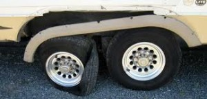 Blown Tire Damage on a 5th Wheel!