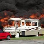 Class a Motor Home Fire