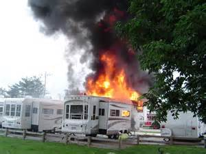 5th Wheel Fire at a Campground