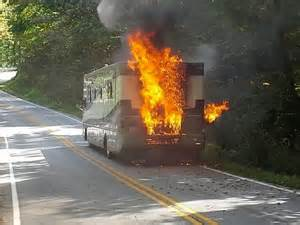 RV Engine Fire